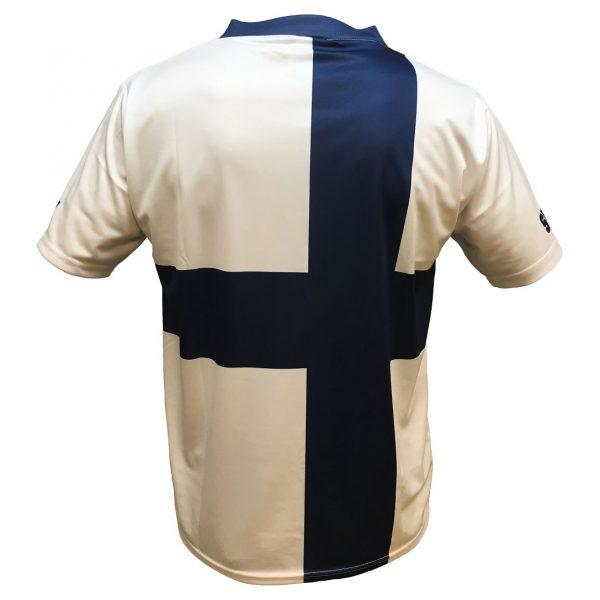 Blå/Vit Finlandströja Finsk Flagga Funktion Baksida