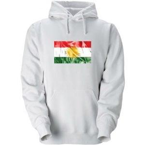 Vit Kurdistan Hoodtröja