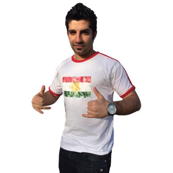 Vit/Röd Kurdistan T-shirt