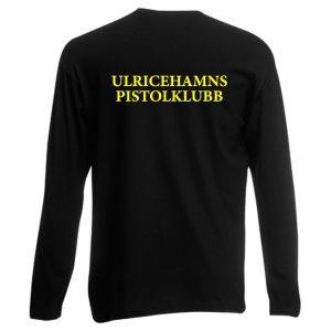 Ulricehamns Pistolklubb Svart Långärmad T-shirt Baksida