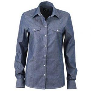 Ljusblå Jeansskjorta Denim