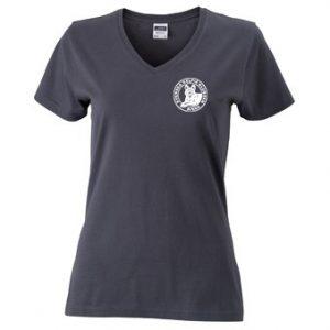 Svenska Kelpieklubben Mörkgrå T-shirt V-hals