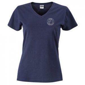 Folkatorps Ridsportsällskap Marinblå T-shirt V-hals