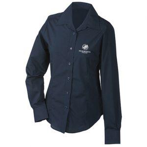 Medborgerlig Samling Marinblå Långärmad Skjorta
