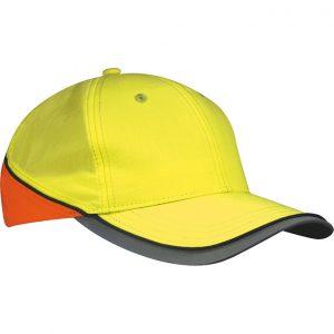Neongul/Neonorange Säkerhetskeps Varsel-0