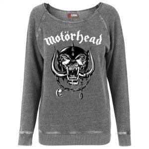 Mörkgrå Collegetröja Motörhead Logo