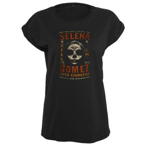 Svart T-shirt Selena Gomez Kill Em Skull