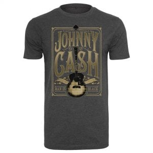 Mörkgrå T-shirt Johnny Cash Man In Black