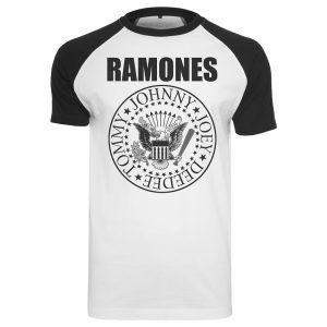 Vit/Svart T-shirt Ramones Circle Raglan