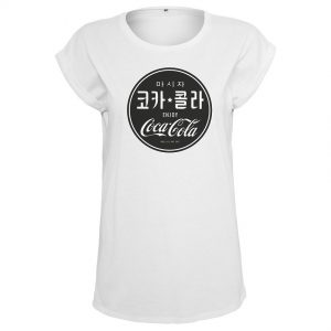 Vit T-shirt Coca Cola Chinese