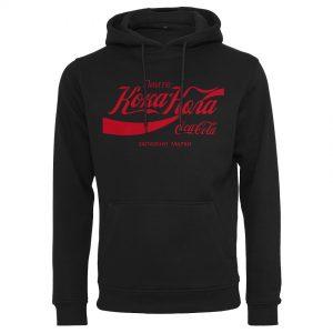 Svart Hoodtröja Coca Cola Russian