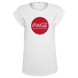 Vit T-shirt Coca Cola Round Logo