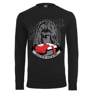 Svart Collegetröja Star Wars Chewbacca Socks Again Jul