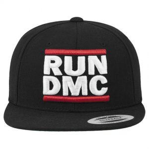 Svart Keps Snapback RUN DMC Logo Framsida