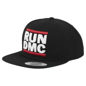 Svart Keps Snapback RUN DMC Logo