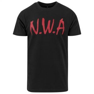 Svart T-shirt N.W.A Logo