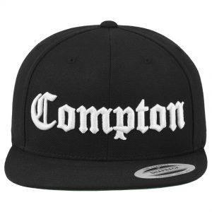 Svart/Vit Keps Snapback Compton Framsida