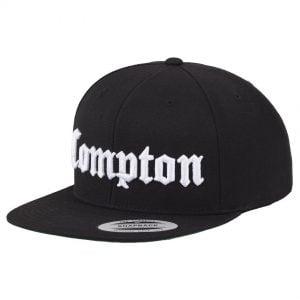 Svart/Vit Keps Snapback Compton