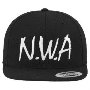 Svart Keps Snapback N.W.A Logo Framsida