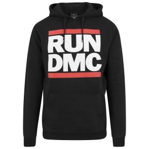 Svart Hoodtröja RUN DMC Logo