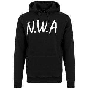 Svart Hoodtröja N.W.A Logo