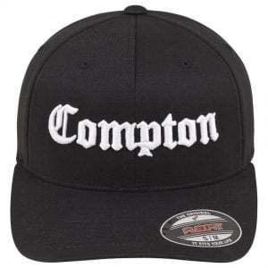 Svart Keps Flexfit Compton Framsida