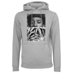 Grå Hoodtröja Wiz Khalifa Half Face