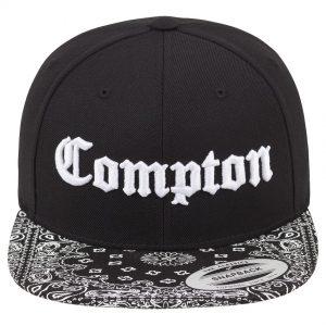 Svart Keps Snapback Compton Bandana Framsida