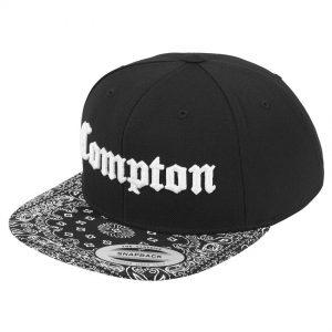 Svart Keps Snapback Compton Bandana