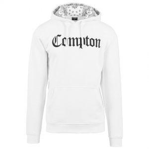 Vit Hoodtröja Compton Bandana