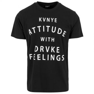 Svart T-shirt Attitude & Feelings
