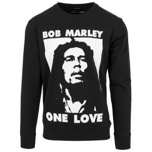 Svart Collegetröja Bob Marley One Love
