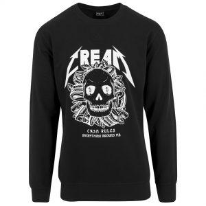 Svart Collegetröja C.R.E.A.M. Skull