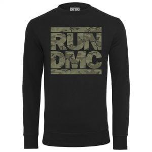 Svart Collegetröja RUN DMC Camo Logo