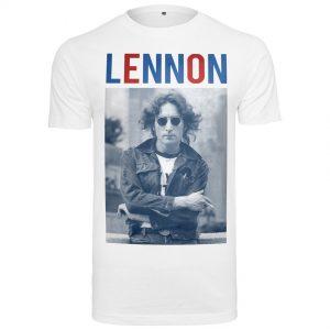 Vit T-shirt John Lennon Bluered