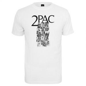 Vit T-shirt Tupac Shakur Collage