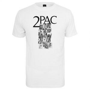 Vit T-shirt Tupac Shakur Collage