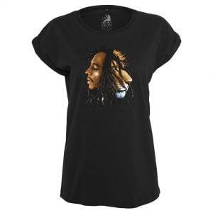 Svart T-shirt Bob Marley Lion Face