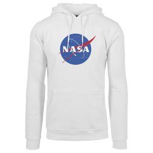Vit Hoodtröja NASA Logo