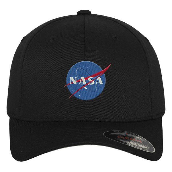 Svart Keps Flexfit NASA Logo