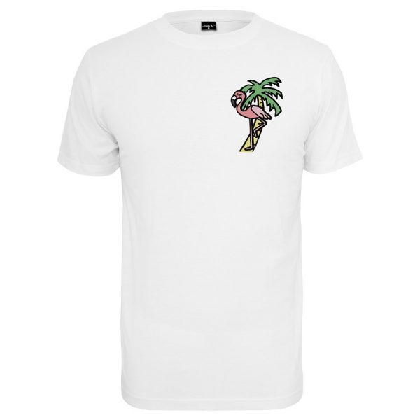 Vit T-shirt Flamingo Palm