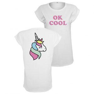 T shirt Unicorn OK Cool | Dam