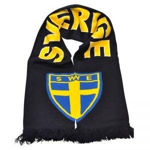 Marinblå/Gul Sverige Halsduk