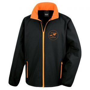 Klövviltsjakt Logo Svart/Orange Softshelljacka