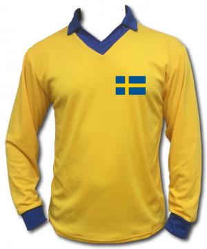 Gul/Blå Sverigetröja Retro