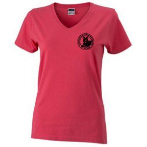 Svenska Kelpieklubben Rosa T-shirt V-hals