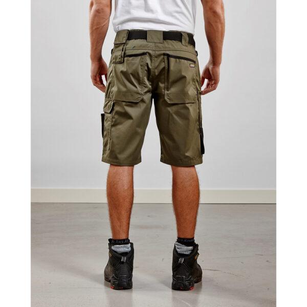 Armégröna Shorts Garden Blåkläder Exempel Framsida