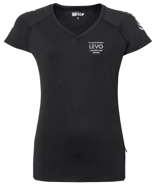 Trampolinklubben Levo Svart Tränings T-shirt