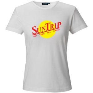 Vit T-shirt Suntrip Med värme till värmen
