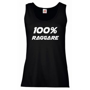 Svart Linne 100% Raggare